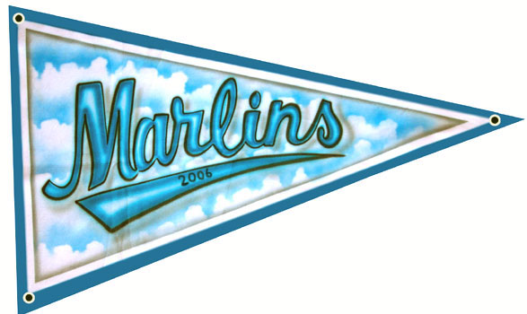 marlins bannerr size team pennant